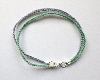Meditate thread plait bracelet