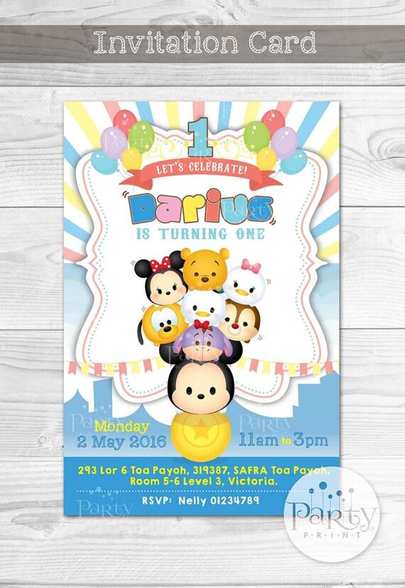 Print it yourself digital copy tsum tsum carnival invitation like this item solutioingenieria Choice Image