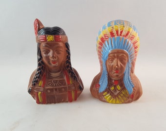 SALE - Indian Salt and Pepper Shakers - Made in Japan