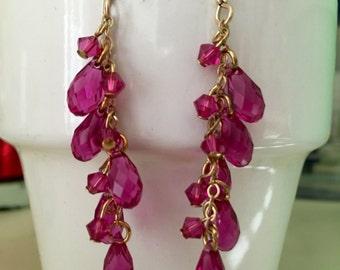 Rose Swarovski Crystal Earrings