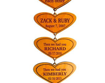 Our Love Story Custom Wall Hearts,Marriage Stats,Children Birth Dates,Love Important Dates,Family Room Decor,Marriage Gift for the Couple