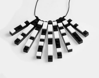 LEGO Necklace - Black and White