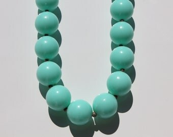 Aqua vintage beads