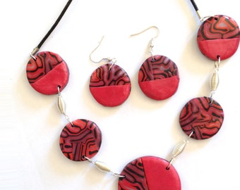 adornment in polymer clay, flamboyant,