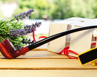 Big SALE! -25% (14.99) Best offer! Only 10 pipes - Churchwarden Lord of the Rings Wooden Tobacco Smoking pipe NEW Handmade