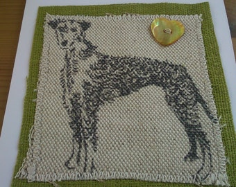 Lurcher greetings card