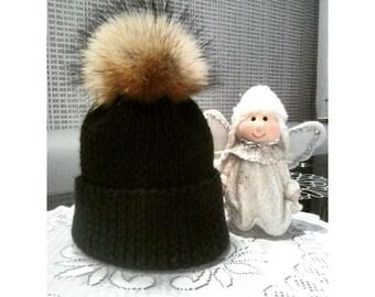Stylish and warm merino wool hat