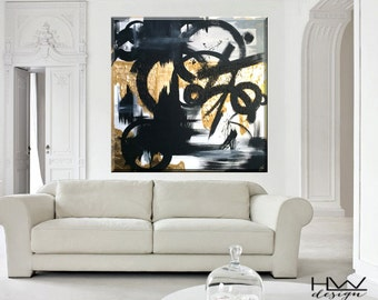 Think Again 36x36 original abstract painting on high quality, 1.5 in thick, gallery wrapped canvas