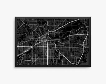 Fort Worth City Street Map, Fort Worth Texas USA, Modern Art Print, Office Decor, Fort Worth Gift, Fort Worth Decor, Fort Worth Poster, Gift