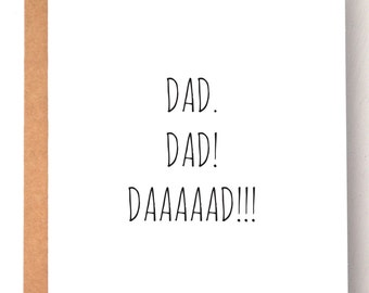 Father's Day Card, Dad Card, Funny cards, Cards for dad, birthday cards for him, birthday card for dad, gifts for dad, greeting cards