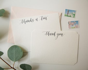 Thank You Notes | Set of 15 Cards | Original Calligraphy