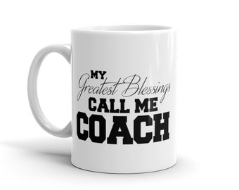Gift for Coach from Team | Coach Mug | Assistant Coaches Gift | Basketball Coach, Soccer Coach, Football Coach, Baseball Coach, Cheer Coach