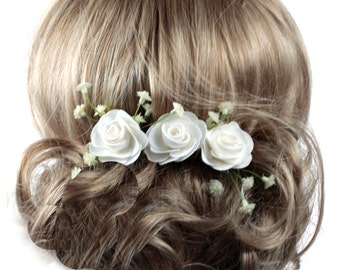 Floral Wedding Hair Comb, Wedding Hairpins, Brides Hair Comb, Floral Hair Comb, Bridesmaids Headdress