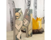 Where the Wild Things are  8 inch standing letters and numbers -Wild one