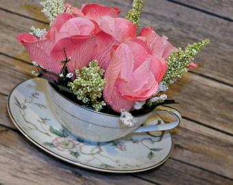 Tea Cup Cake Topper, Wedding Cake Topper