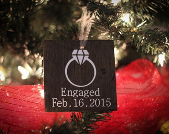 Personalized Engagement Ornament.  Engagement Ornament.  Engagment Gift For Couple.  Gift for engaged couple.  Engagement Christmas Ornament