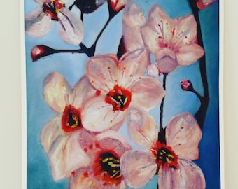 Cherry blossom Giclee print from original oil painting