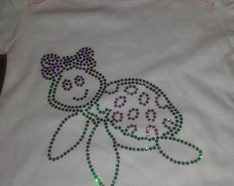 Do you LOVE TURTLES? Adorable Baby turtle Onesie Light Pink Baby Safe Bling Spangle