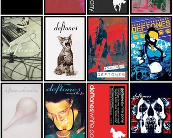 DEFTONES 13 pack of cassette cover discography magnets