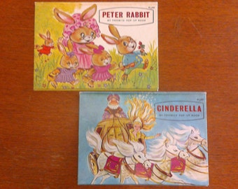 Peter Rabbit and Cinderella - My Favorite Pop-up Books - vintage 1960s