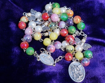 Colorful St. Michael's Chaplet