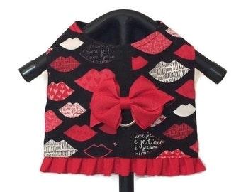 Dog Clothes, Dog Dress, Dog Harness Vest, Girl Dog Clothes, Dog Harness, Dog Clothing, Small Dog Clothes, Red Dog Dress, Small Dog Dress