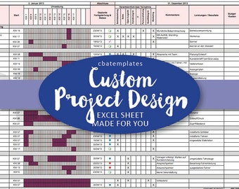 CUSTOM Project Management Template Design - just for you!