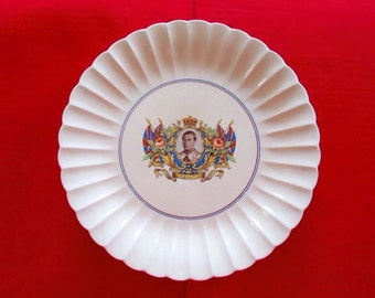 1937 King Edward VIII Coronation Plate by Soveriegn Potters Canada
