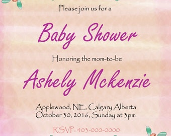 habby Chic Baby Shower Invitation
