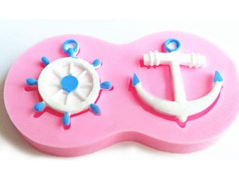 Anchor Ship Wheel Silicone Fondant mold
