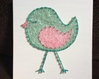 CUSTOM Bird String Art, Animal Decor, Made to Order, Nursery Wall Hanging