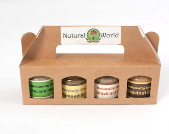 Nutural World amazing nut butters in MINI JARS - the ideal tasty present