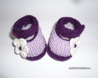 Baby shoes, Kids Shoes, Toddler shoes, Baby Girl Shoes, Infant shoes, Toddler boots, booties, Purple Boots, Baby Boots, Knitted Shoes