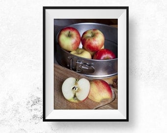 Apple Gift for Cooks Photography Food Lover Photography Download Food Photography Apples Instant Download Apple Pie Wall Art Kitchen Art