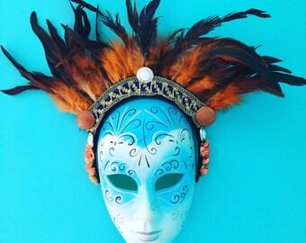 Orange Fire Empress Festival Headdress