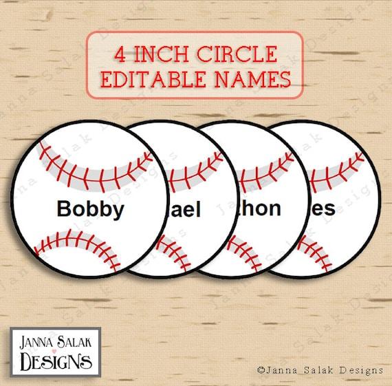 Adaptable image for free printable baseball tags