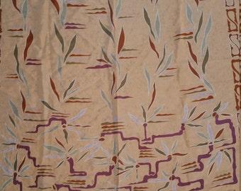 Mary McFadden Scarf 31 X 31 Soft Desert Colors.