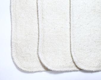 6  Organic hemp french terry cloth diaper inserts super trim! Super absorbent!