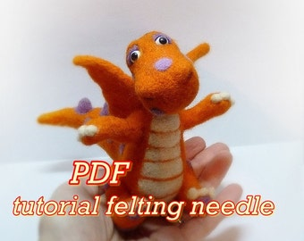 PDF TUTORIAL Needle Felted dragon Tutorial Dragon needle Needle Felting  Needle felted animal Wool felted Felt sculpture Dragon sculpture