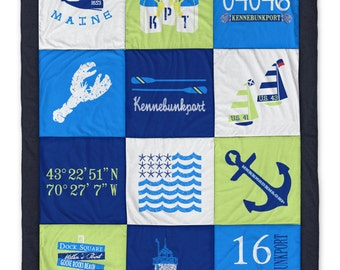 Kennebunkport Green Destination Blanket