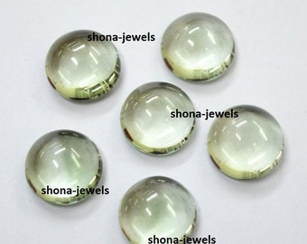 Lot Of 2 Pieces Green Amethyst 13X13 mm Round shape Cabochon Calibarated loose gemstone with free shipping