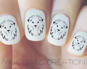 Lion Nail Decal