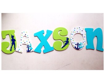 Peter Pan Nursery letters wall letters wall decor peter pan decoration