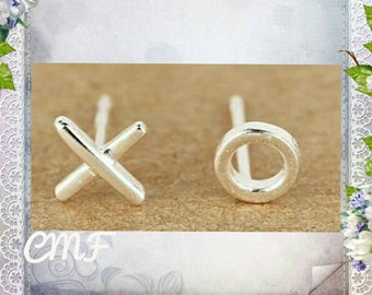X and O Earrings 925 Sterling Silver Earrings Stud Earrings