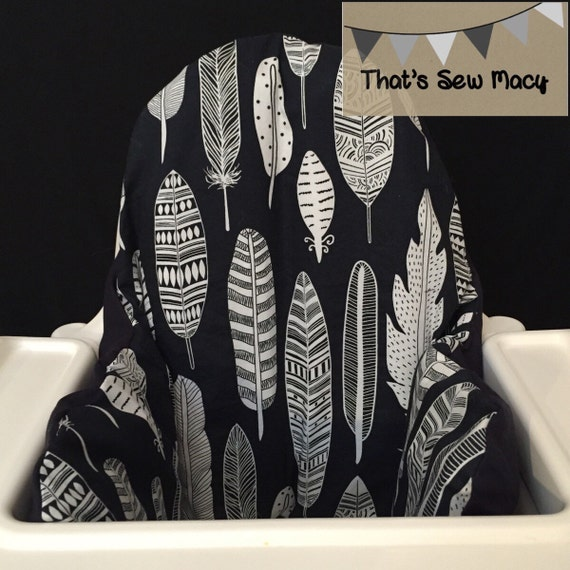 Ikea Patrull Babyphone Erfahrungen ~ Dark Navy Feather IKEA Antilop Hochstuhl Hochstuhl Kissenhülle  mit