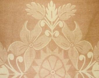 Vintage pink/brown ORR HEALTH Holland Tulip wool Blanket • 79 X 82 inches