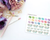 Print and Cut Cameos -- Matte Planner Stickers