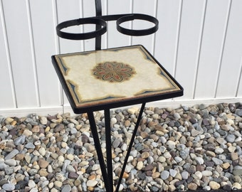 wrought iron plant stand etsy. Black Bedroom Furniture Sets. Home Design Ideas