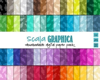 People Girl {Tinted} Digital Paper Basic 52 [Instant Download]