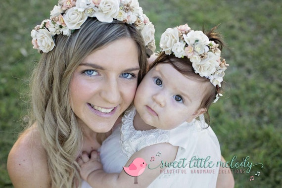 Mother And Baby Gifts Australia : Items similar to mommy and baby flower crowns mother